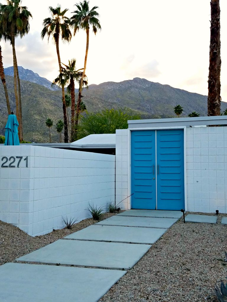Palm Springs Colorful Doors Blue 2