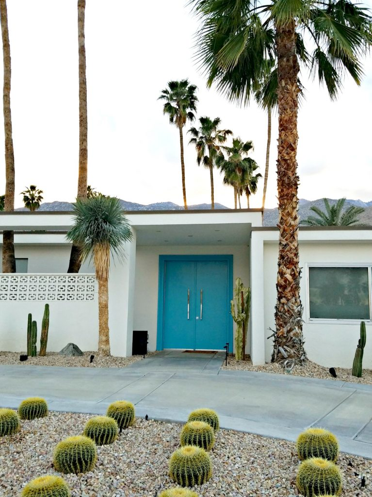 Palm Springs Colorful Doors Blue 3