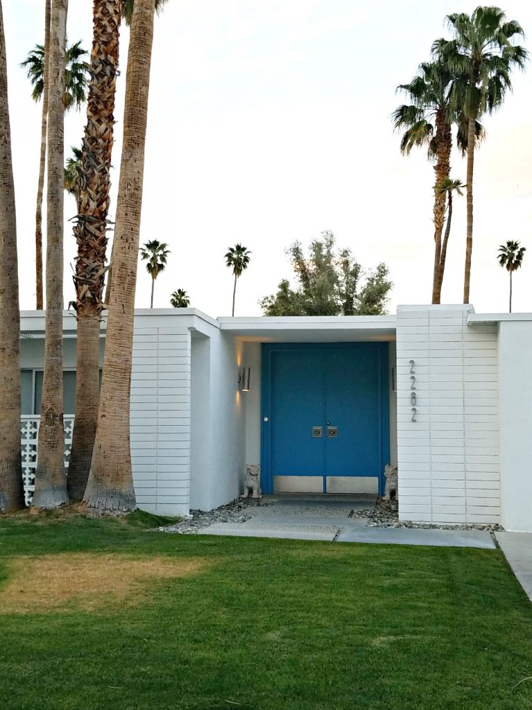 Palm Springs Colorful Doors Blue 5