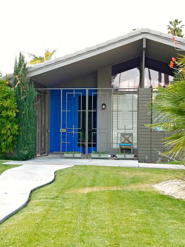 Palm Springs Colorful Doors Blue