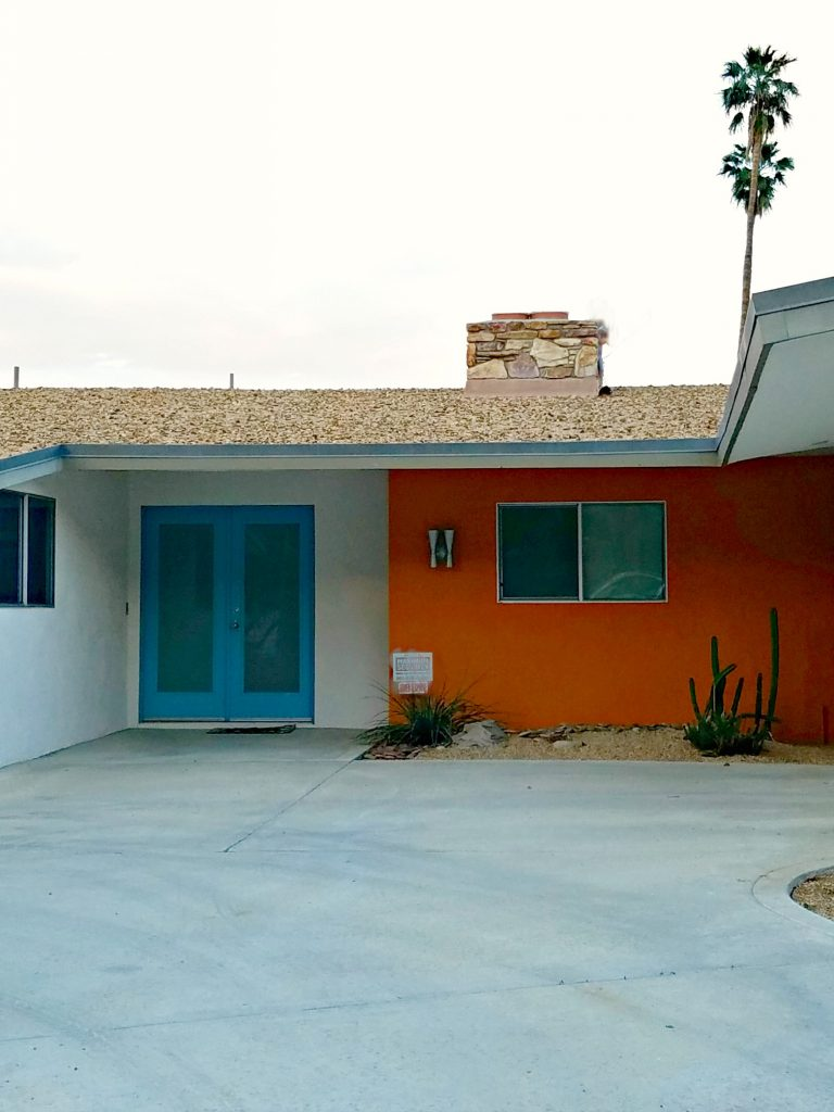 Palm Springs Colorful Doors blue and orange