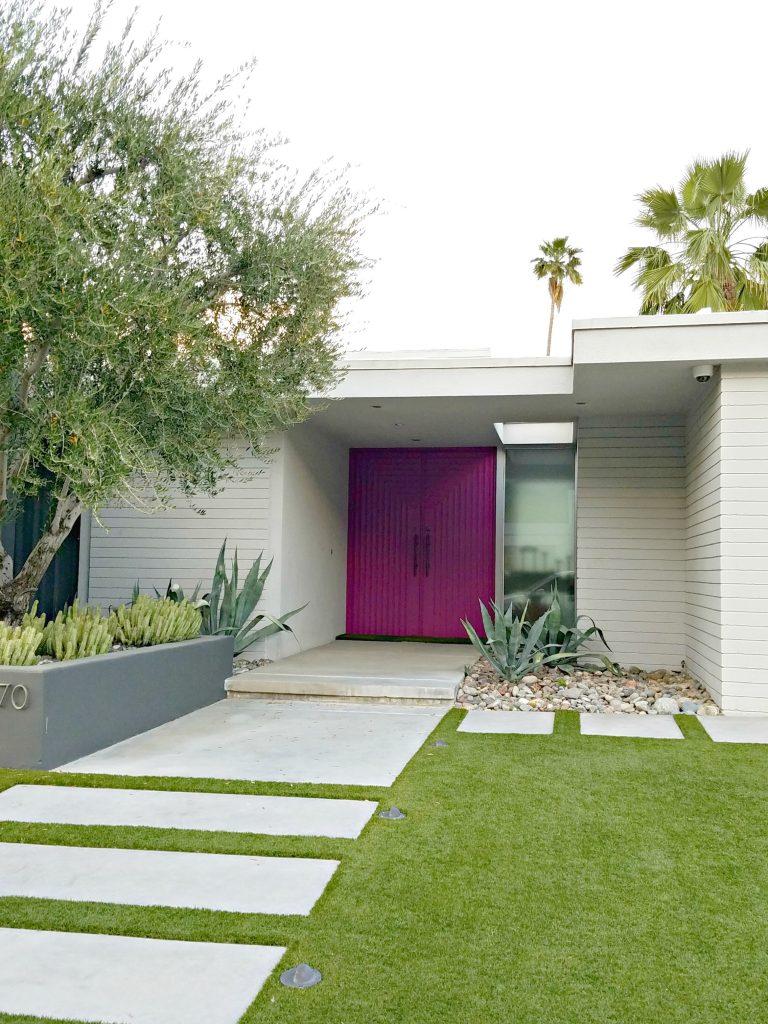 Palm Springs Colorful Doors Fushia