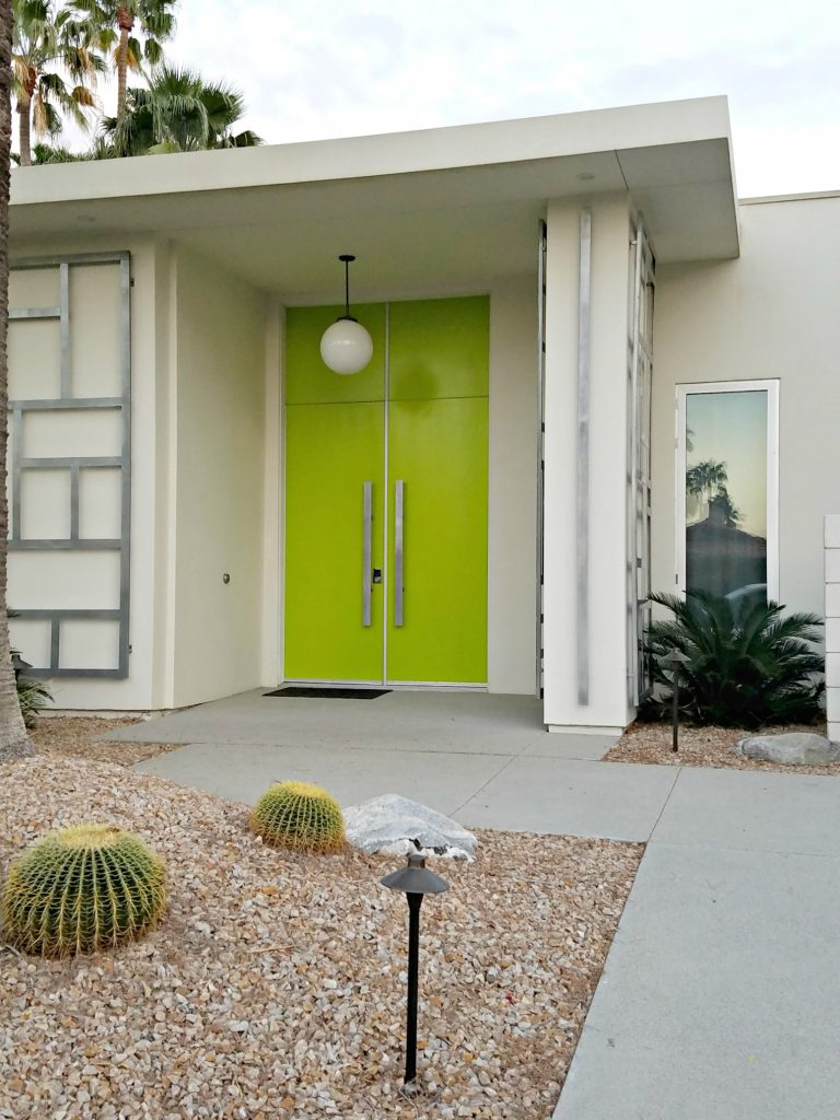 Palm Springs Colorful Door3 Green 3