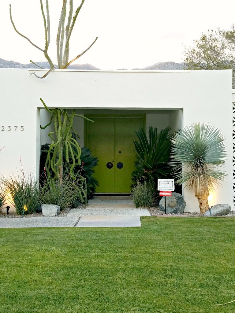 Palm Springs Colorful Doors Green