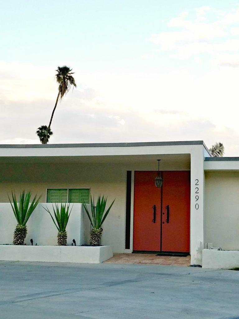 Palm Springs Colorful Doors Orange 2