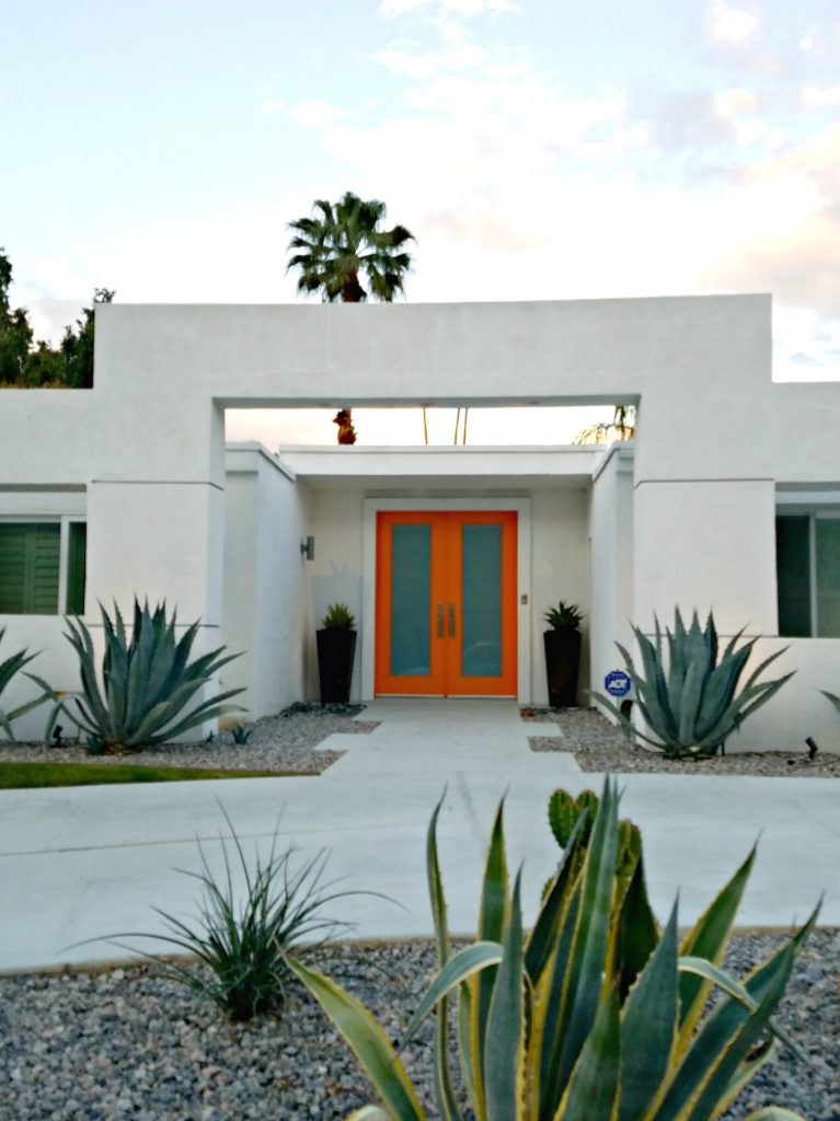 Palm Springs Colorful Doors Orange 4