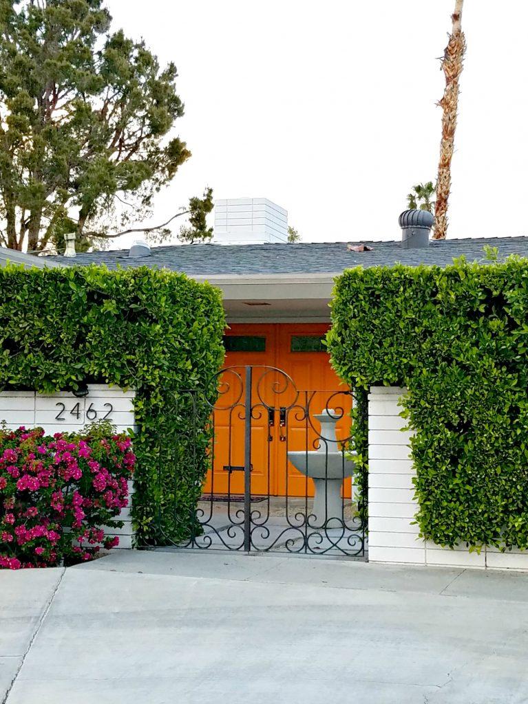 Palm Springs Colorful Doors Orange