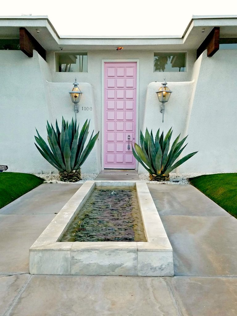 Palm Springs Colorful Doors Pink