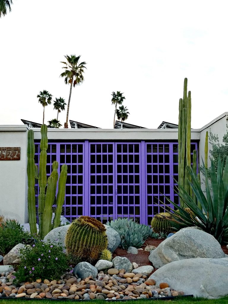 Palm Springs Colorful Doors Purple