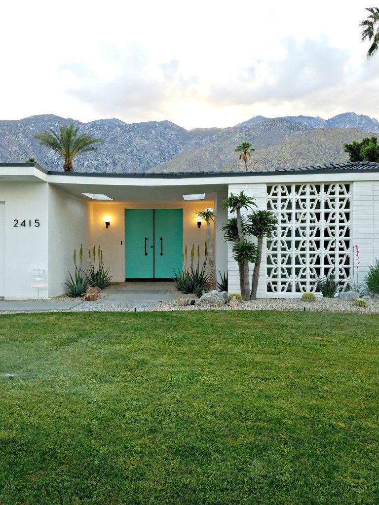 Palm Springs Colorful Doors Teal 2