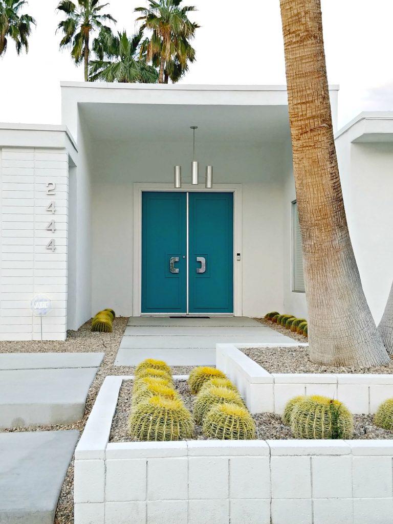 Palm Springs Colorful Doors Teal