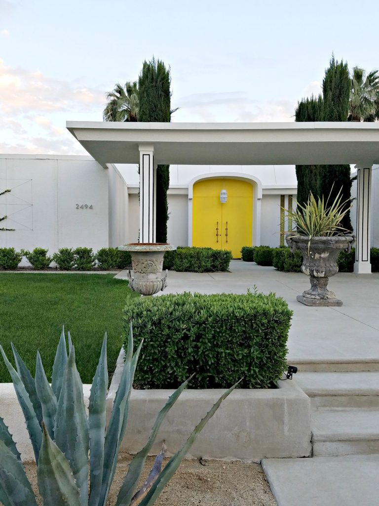 Palm Springs COlorful Doors Yellow 2