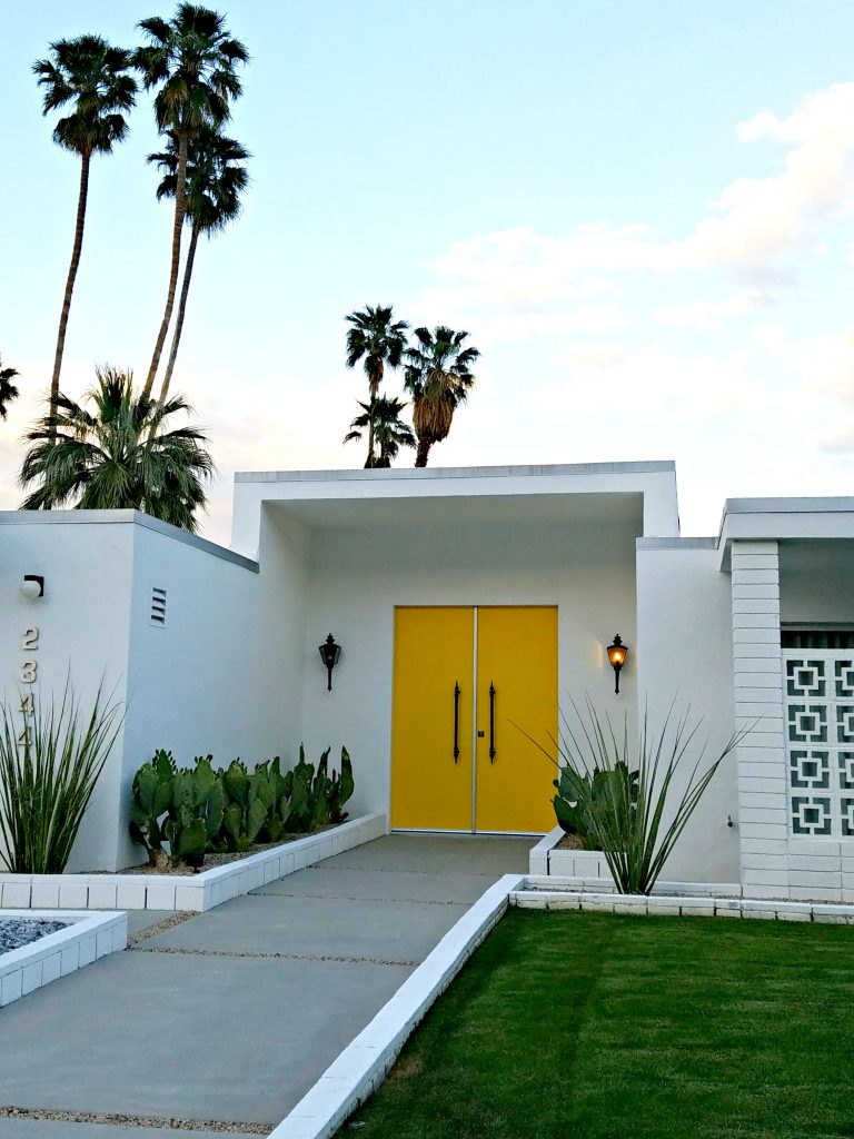 Palm Springs Colorful Doors Yellow