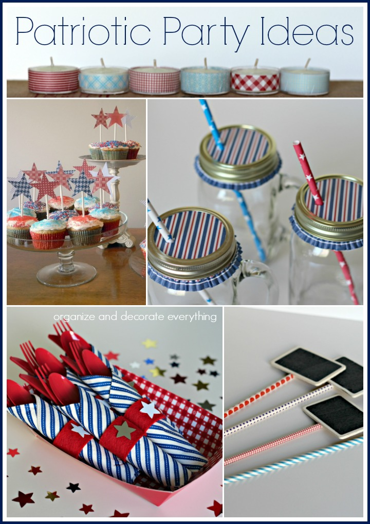 Patriotic Party Ideas Red White Blue