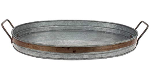 Porch and Patio Accessories galvanized tray