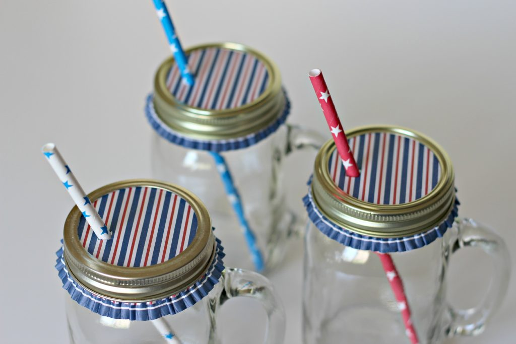 Patriotic Party Ideas drink covers