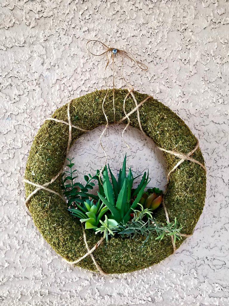 Spring Porch decor succulent wreath