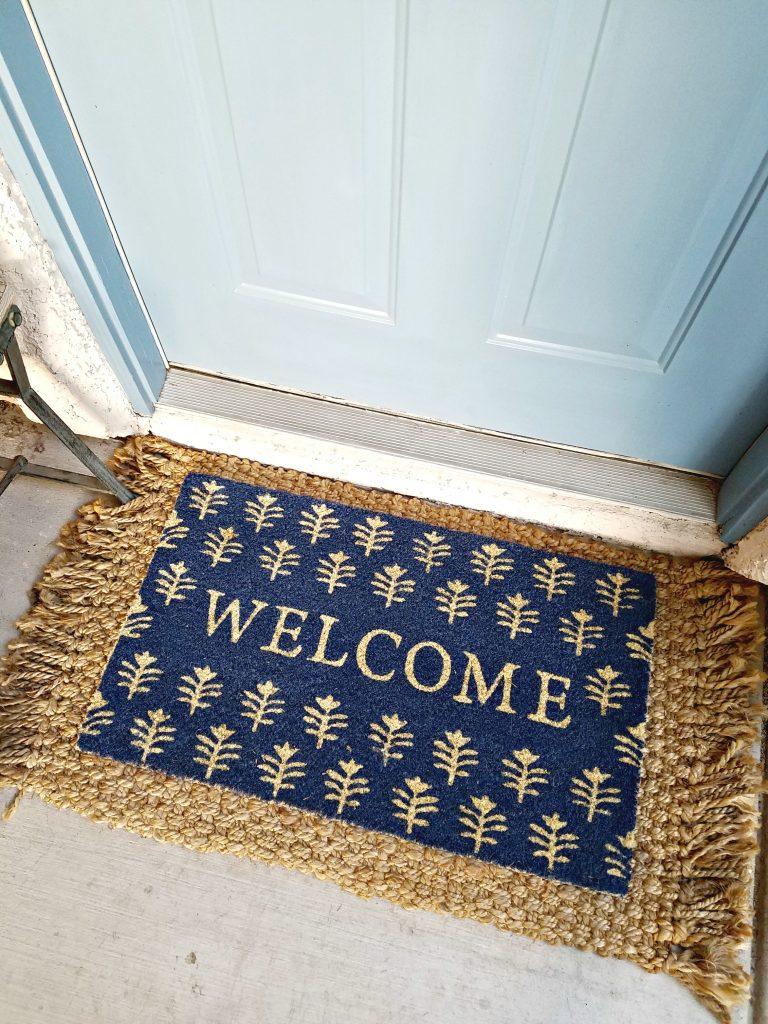Spring Porch decor welcome mat
