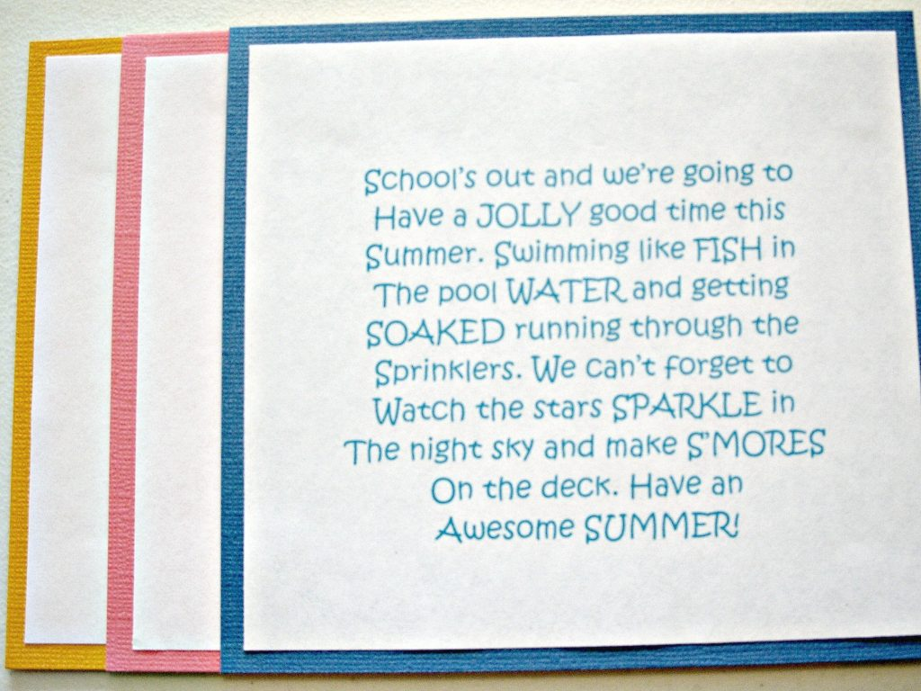 Last Day of School Summer Fun Bag 3