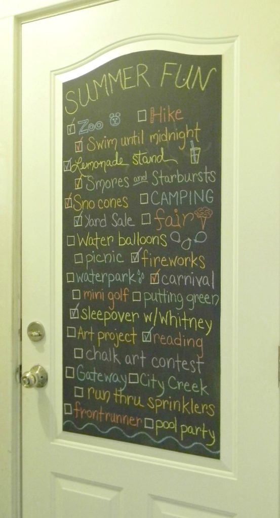 Summer Fun CHalkboard Door