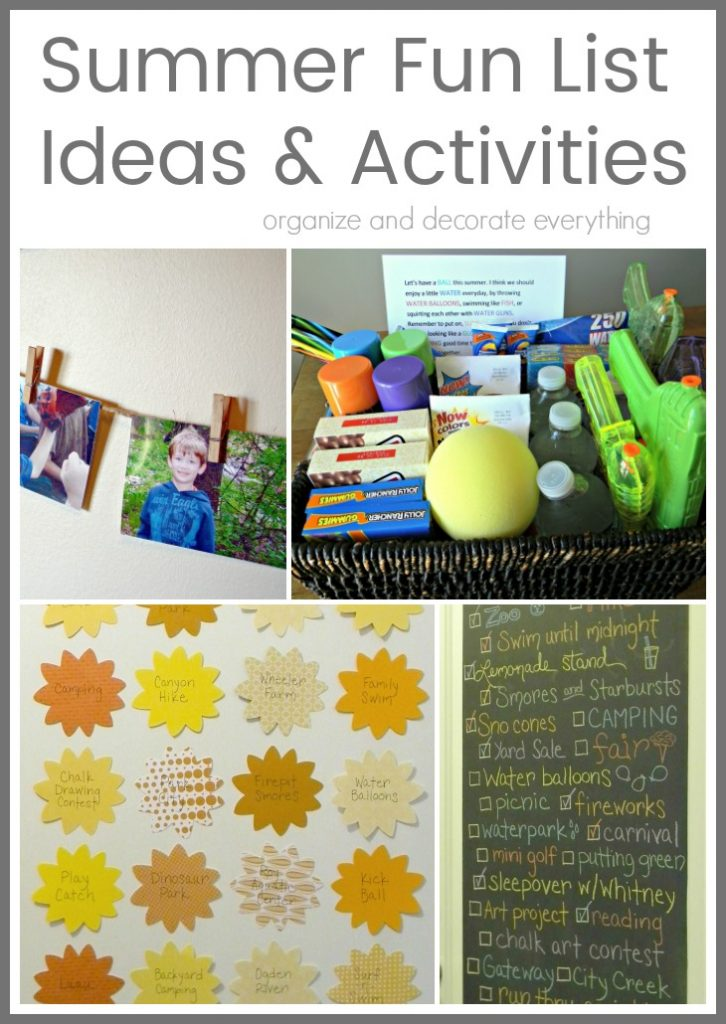 Summer Fun List Ideas and Activities