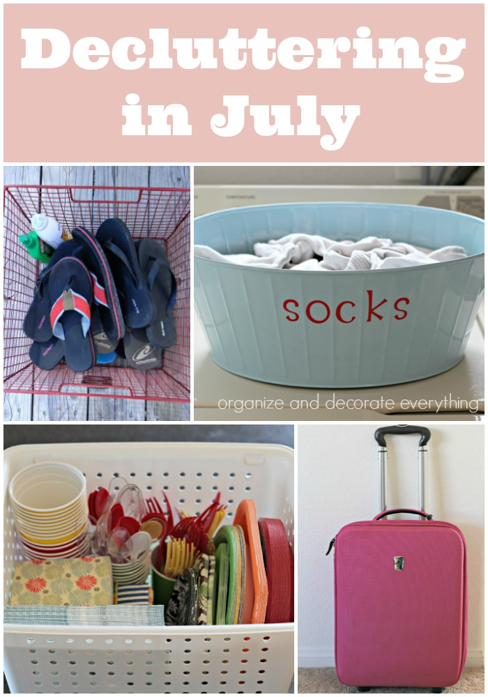 decluttering in July monthly decluttering series
