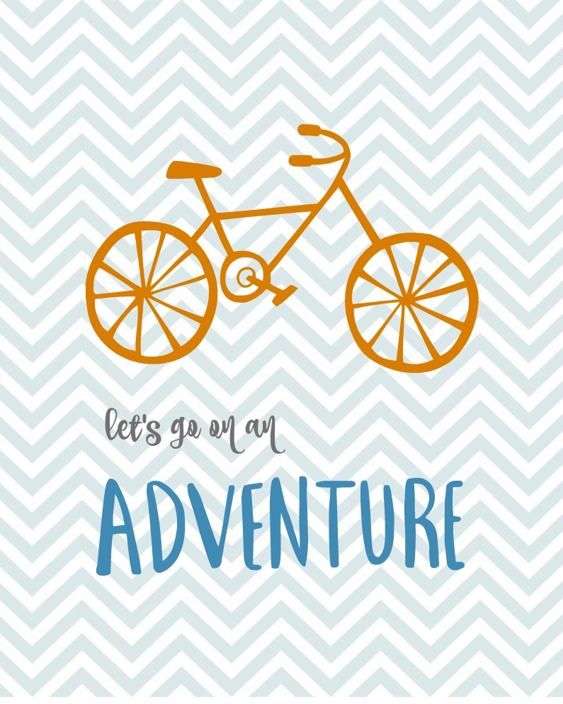 Lets Go on an Adventure printable