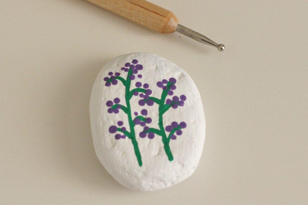 Painted Rocks purple flowers