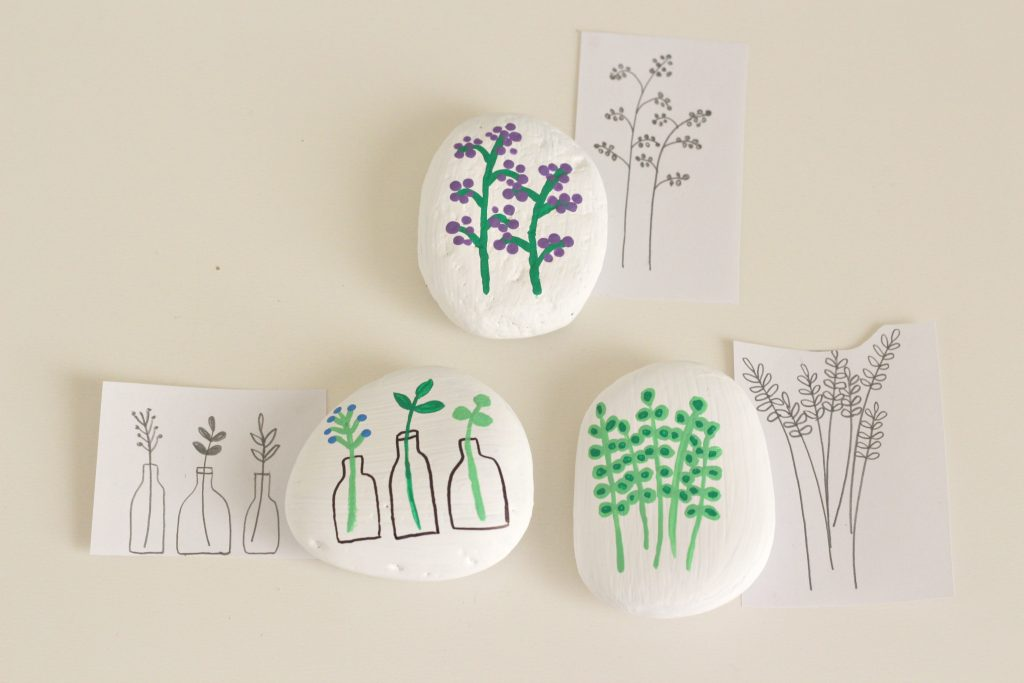 Painted Rocks and sketches