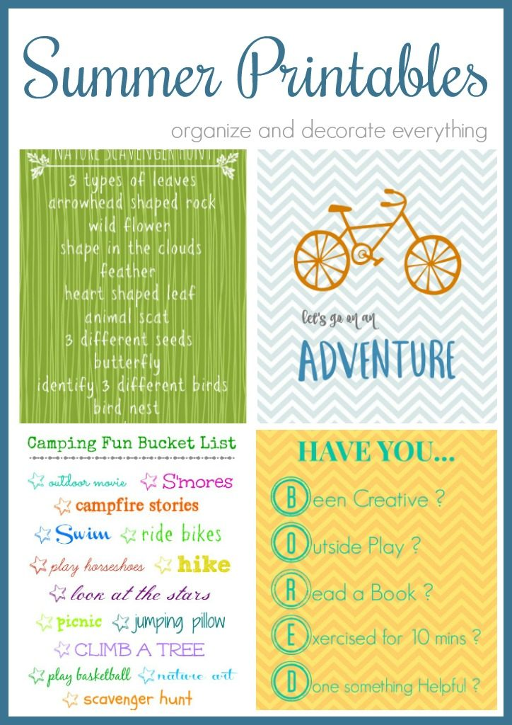 Summer Printables for Home Decor and Fun