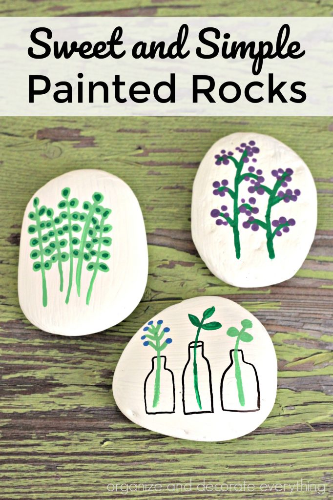 Sweet and Simple Painted Rocks