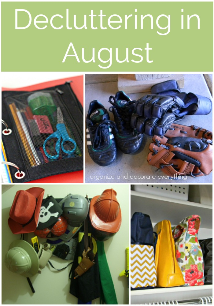 Decluttering in August monthly decluttering series