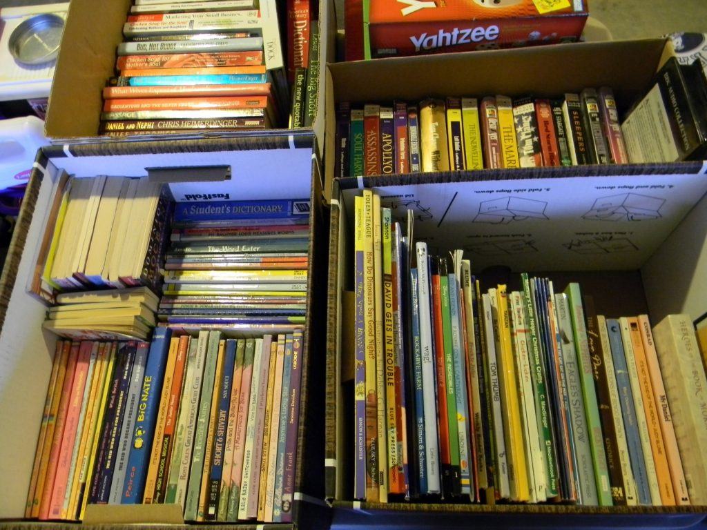 decluttering in august books