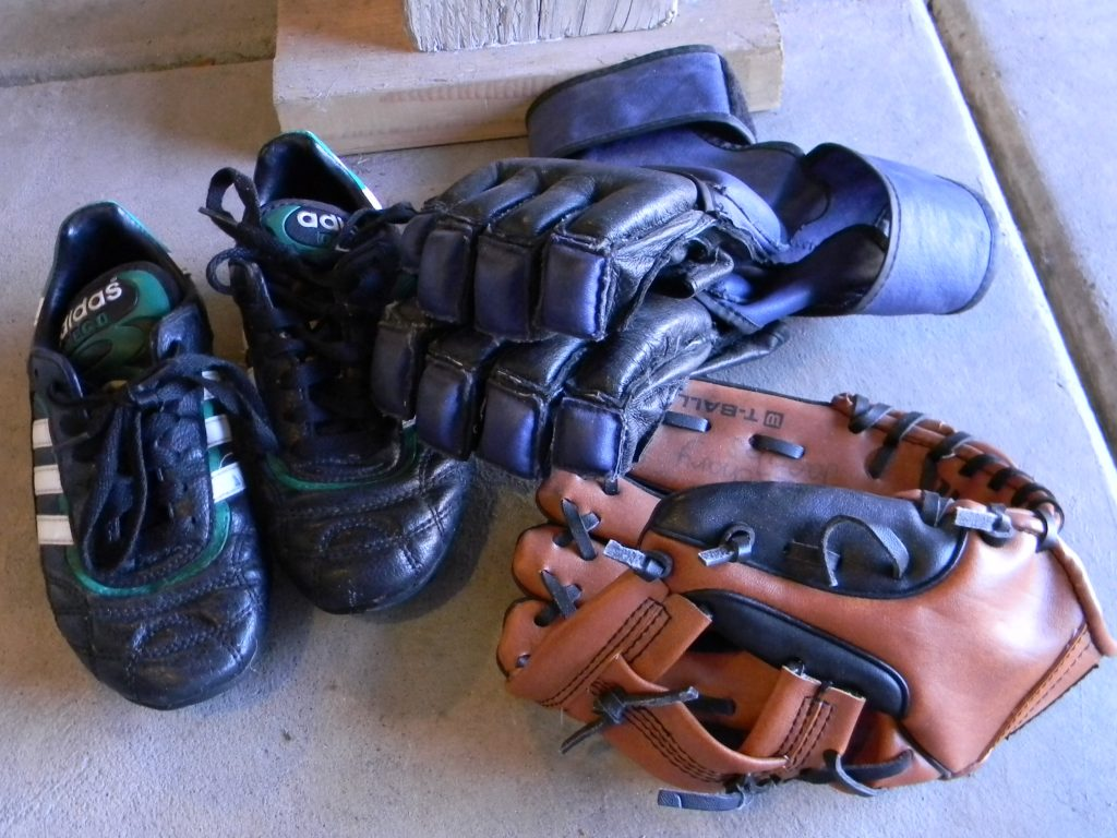 decluttering in august sports gear