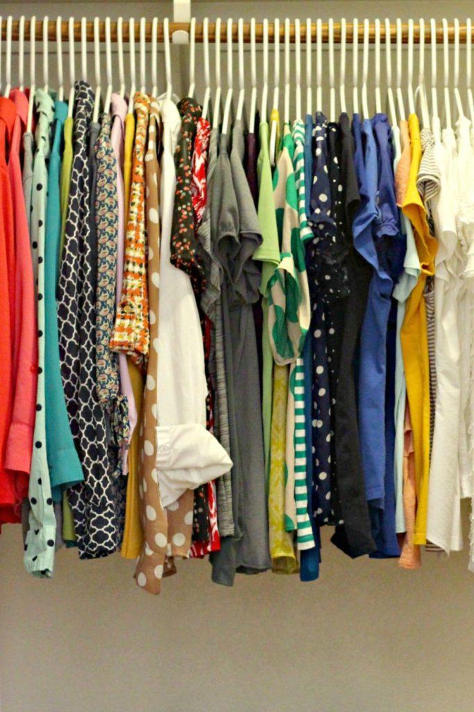 decluttering in august hangers