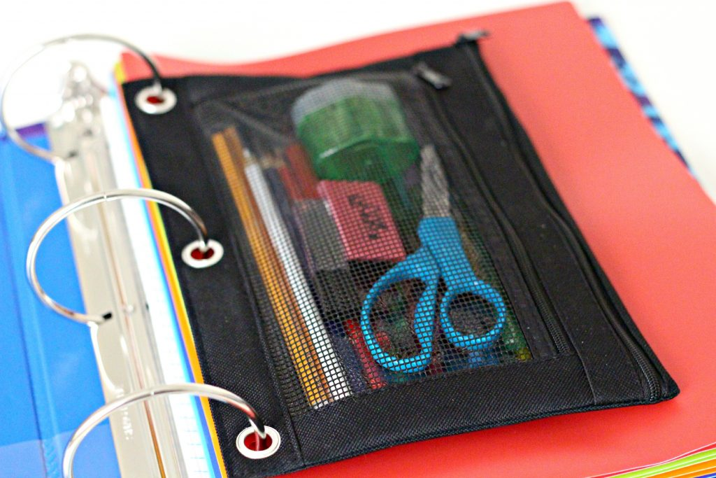 decluttering in august school supplies