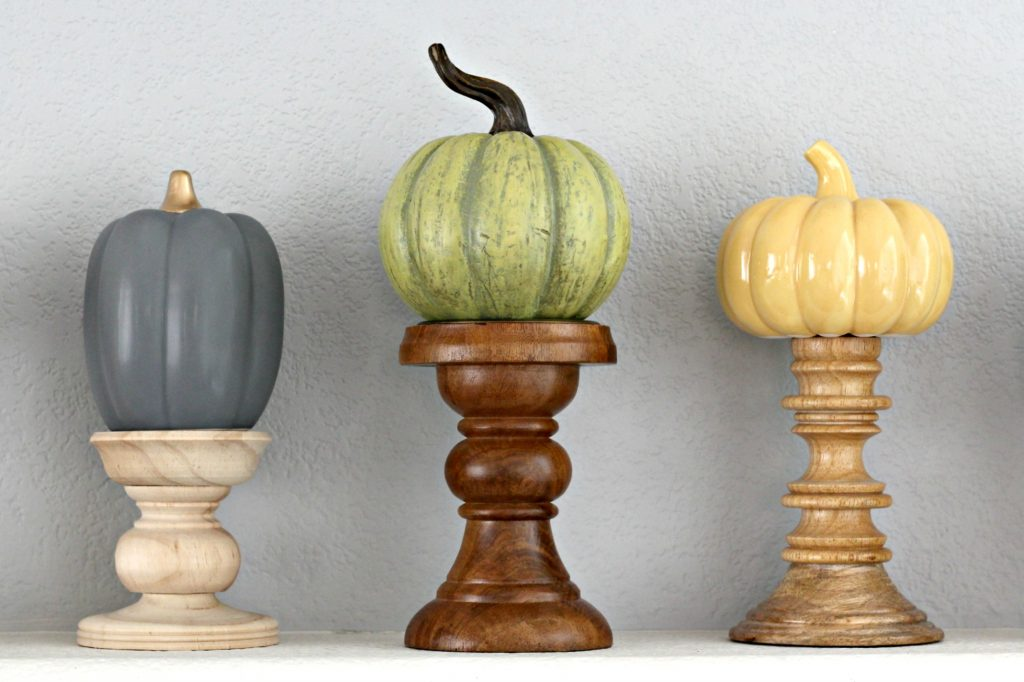 Pumpkins and Plaid Mantel Pumpkins 1