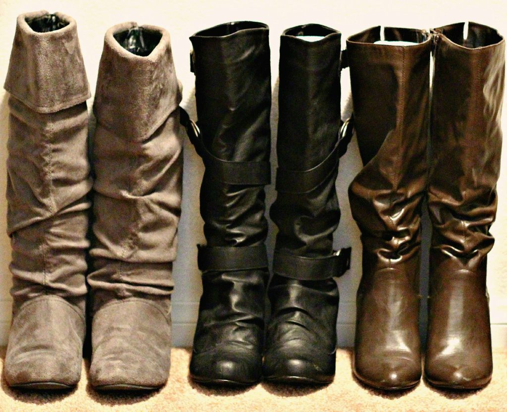 decluttering in September boots