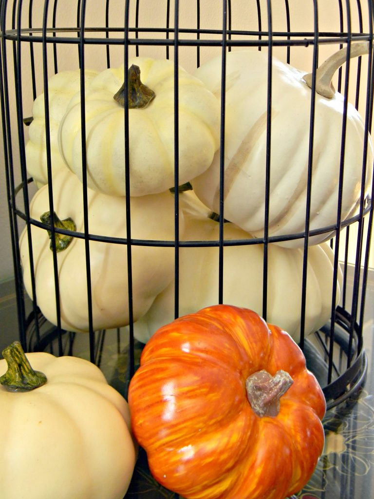 decluttering in September fall decor