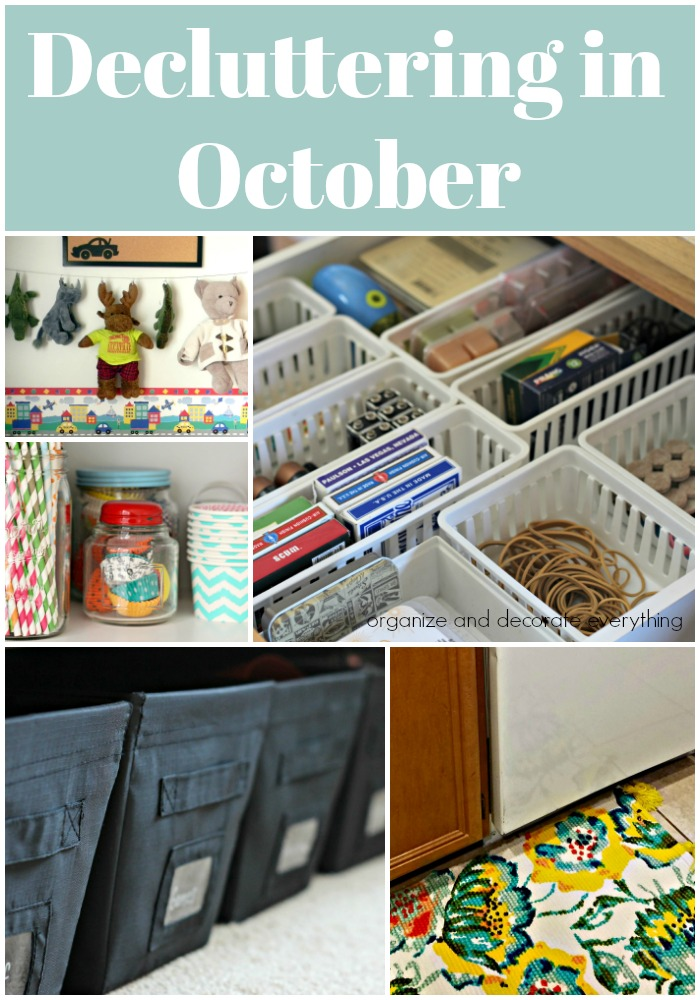15 things to declutter in October