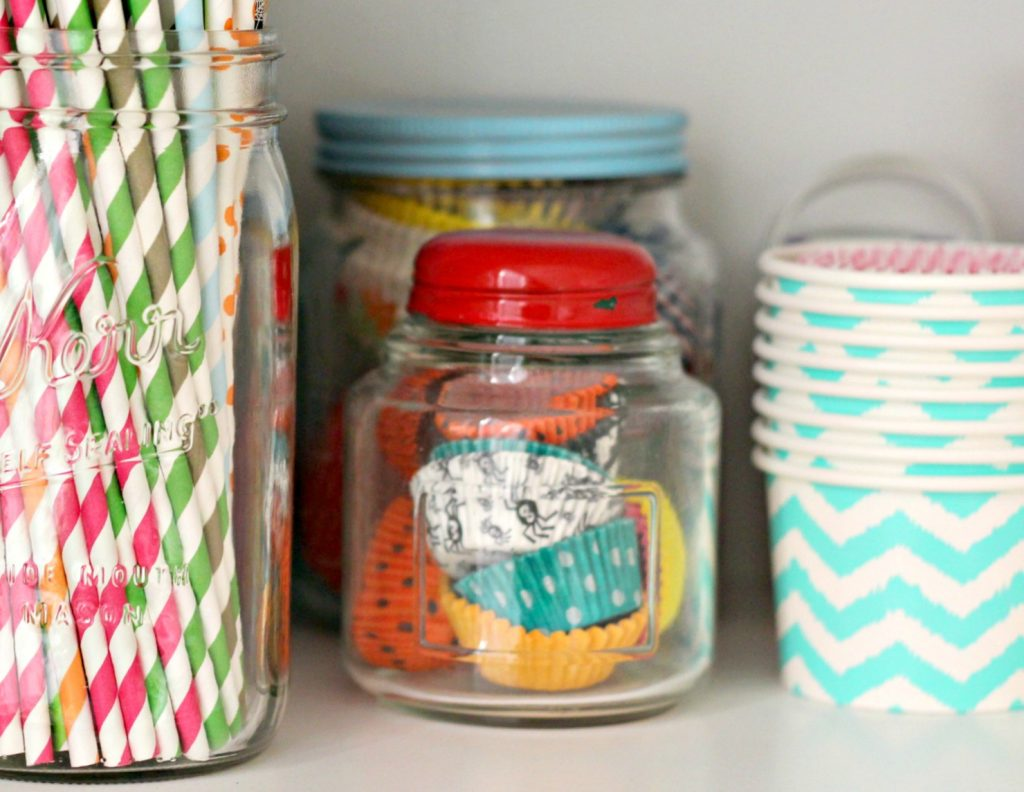 decluttering in October baking supplies