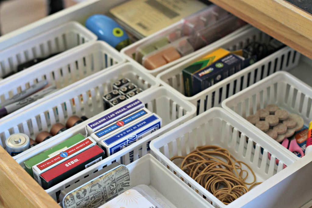 decluttering in October junk drawer