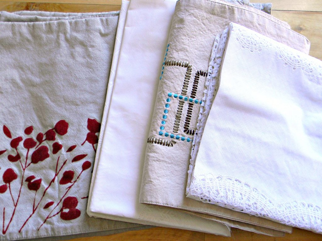 decluttering in October linens
