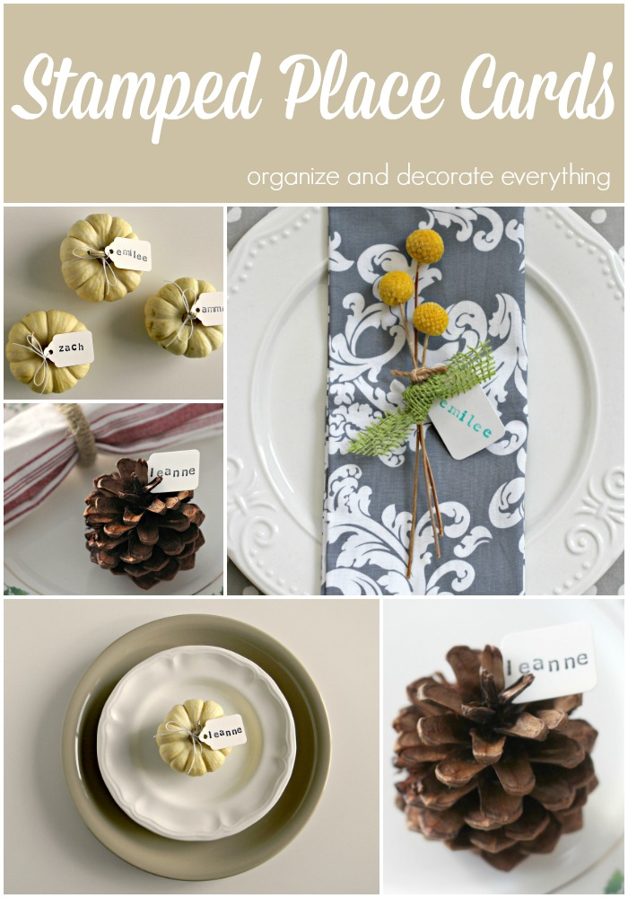 Sweet and simple stamped place cards for Thanksgiving or any gathering
