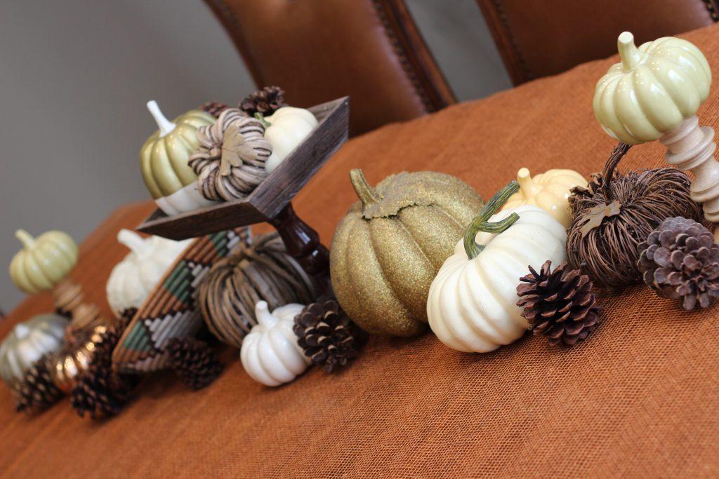 decluttering in November Thanksgiving decor