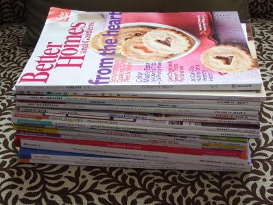 decluttering in November magazines