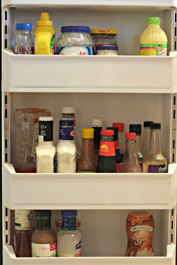 decluttering in November refrigerator