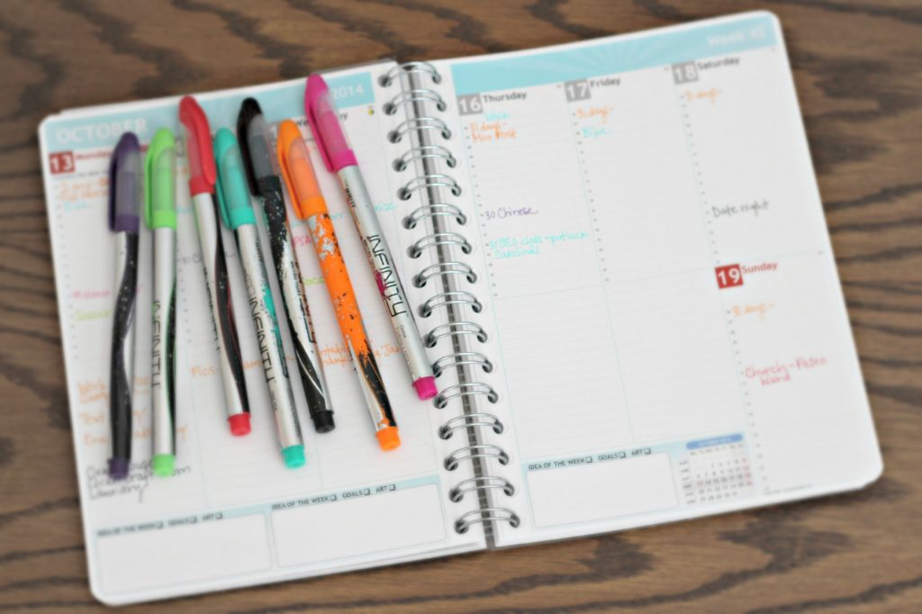 planner and stationary declutter