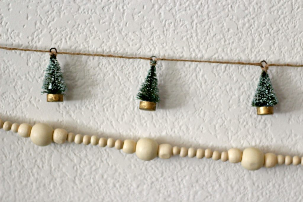Christmas green and black garlands