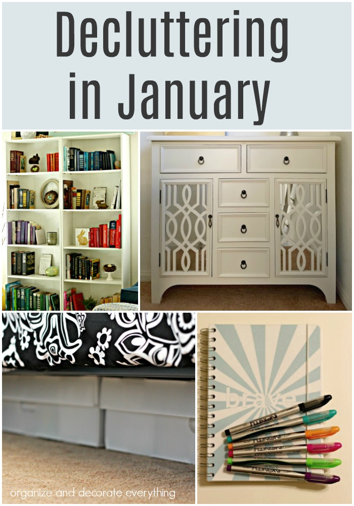 Decluttering in January monthly decluttering series